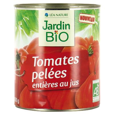 Очищенные томаты в собственном соку JardinBio 400g