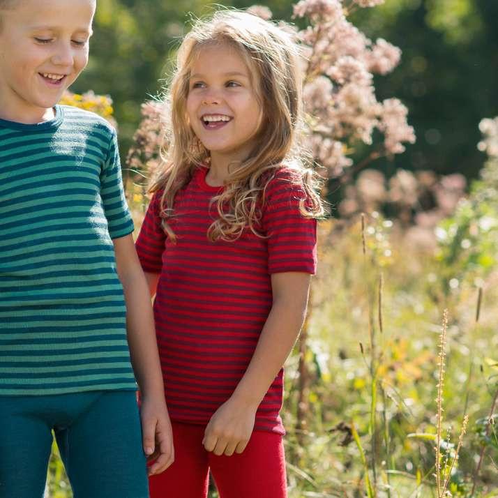 Детская футболка Engel 116, красно-полосатая