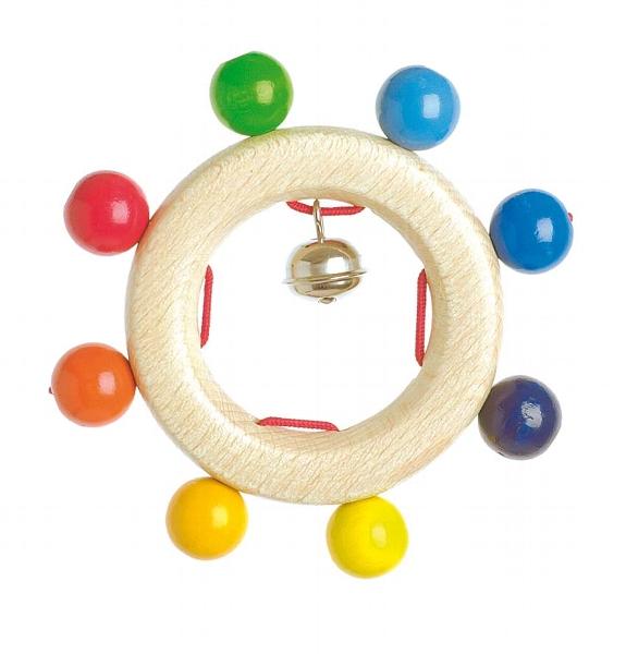 Прорезыватель-погремушка Разноцветные шарики Heimess