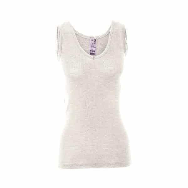 Living Crafts Women's Wool/Silk Vest in White
