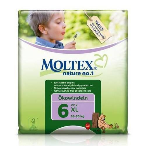 Подгузники Moltex Nature XL 16-30kg, 22 шт.