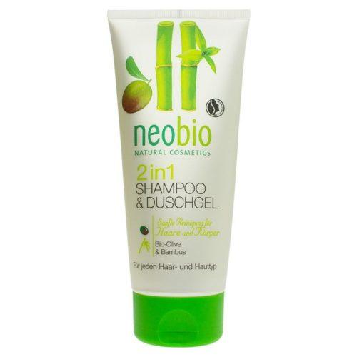Neobio 2 in 1 Shower Gel and Shampoo 200ml