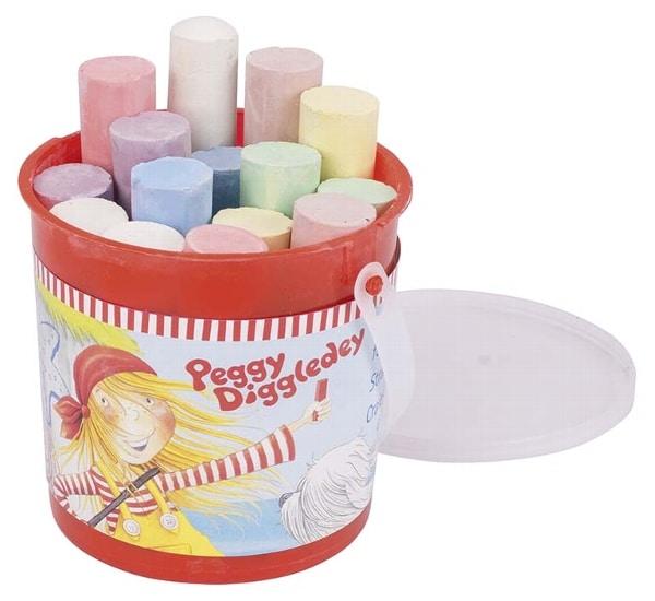 GOKI Peggy Diggledey Street Chalk in a Bucket 15pcs