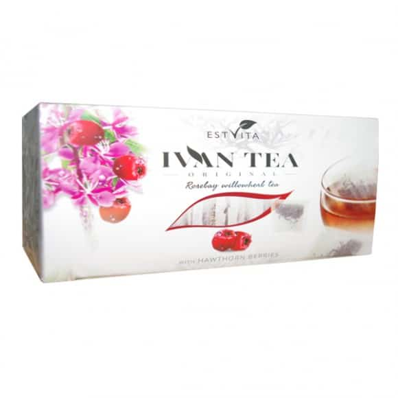 EstVita Ivan Tea - Rose Bay Willow Herb Tea with Hawthorn 20x1.5g