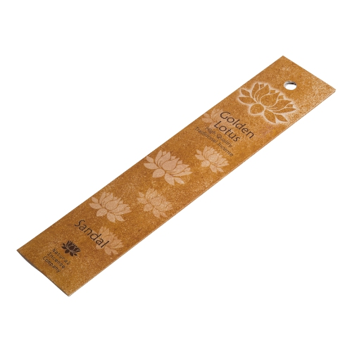 Golden Lotus Sandalwood Incense Sticks 10pcs