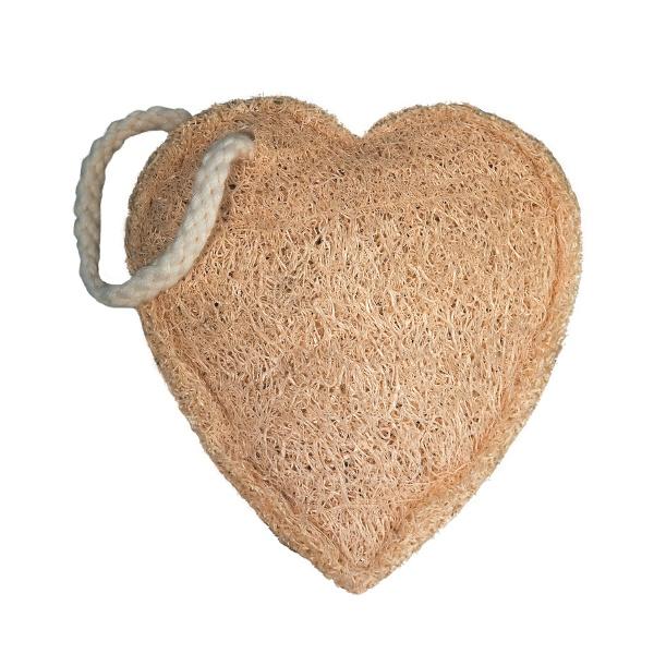 Мочалка из люффы маленькая Croll & Denecke сердце