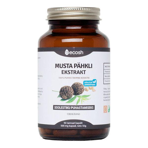 Ecosh musta pähkli ekstrakti kapslid