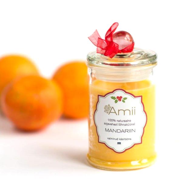 Свеча из соевого воска Мандарин Amii