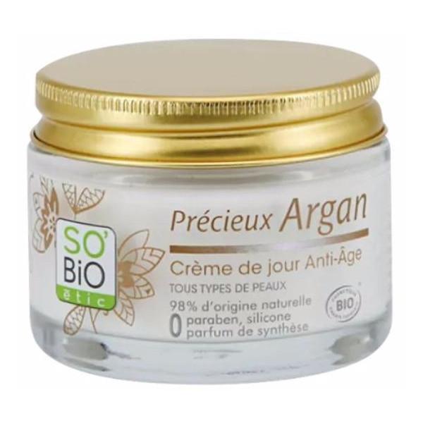 Омолаживающий ночной гель для лица с аргановым маслом SO'BiO 40ml