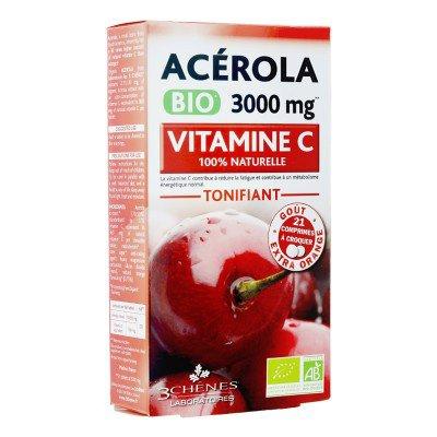 Жевательные таблетки с ацеролой 3000mg 3chenes 21шт