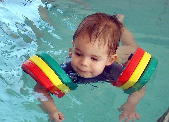 Ребенок с плавательными дисками Super Delphin