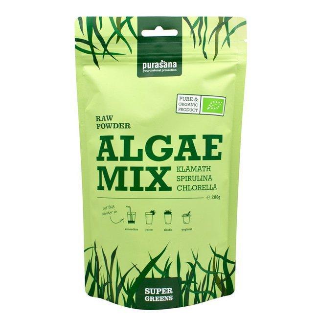 Смесь из водорослей в порошке Algae Mix Purasana 200гр