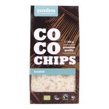 Обжаренные кокосовые пластинки Purasana 100g