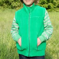 Жилетка из хлопкового флиса Living Crafts  зеленая