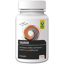 Таурин с гуараной, кофеином и витамином С Raab 60 капсул
