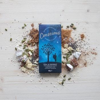 Сыроедческий шоколад с чиа и кокосом Concsious