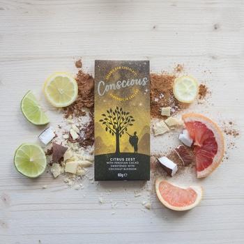 Сыроедческий шоколад с лимоном Concsious