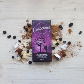 Сыроедческий шоколад с вишней Concsious