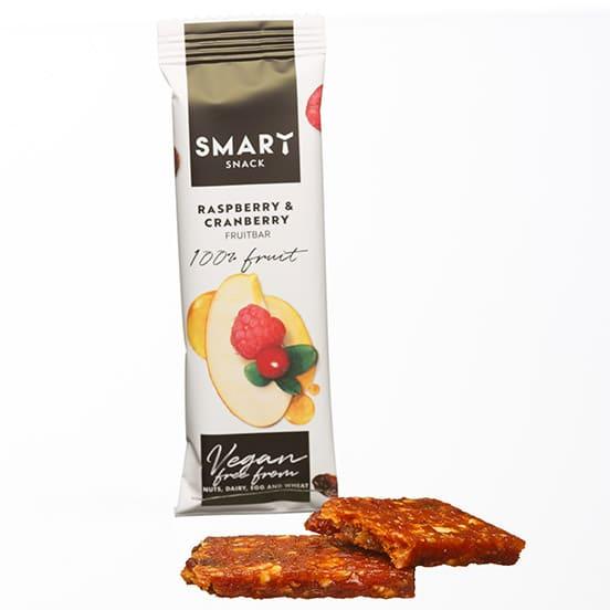 Фруктовый батончик с малиной и клюквой Smart snack