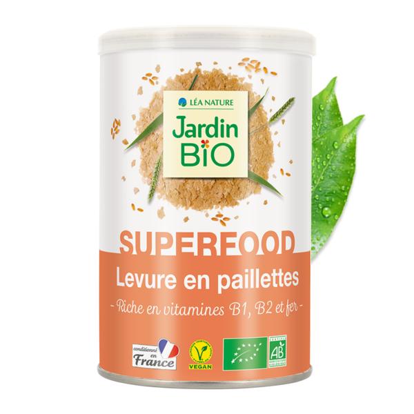 Пищевые дрожжи B1, B2 и железом JardinBIO 80g