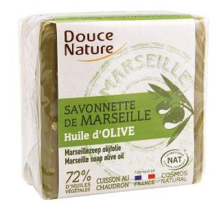 Мыло Марсельское зеленое с оливковым маслом Douce Nature 100g